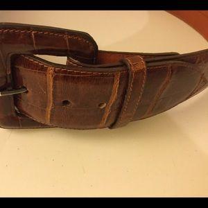 Pat  Areias Accessories - Pat  Areias Genuine American Alligator Belt Brown